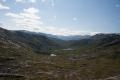 Utsikt sørover fra fjell ved øvre Breivatnet
