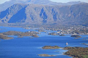 Brønnøysund sett fra Torghatten