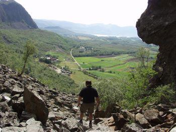 Utsikt fra hule åpningen
