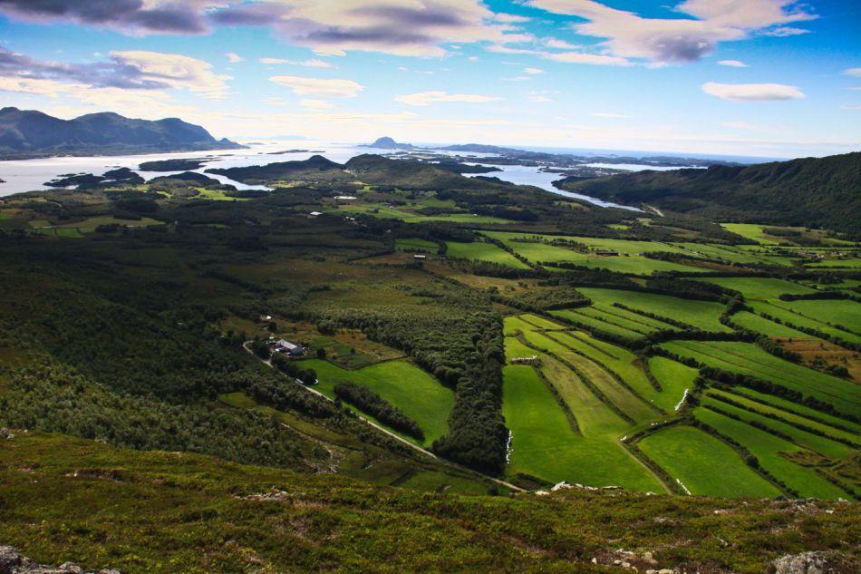 Utsikt fra Skårfjellet. Foto:Gen