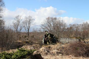 Kanon fra 2. verdenskrig: Foto: G E Nilsen