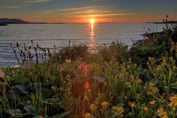 Solnedgang ved Mosheimsjøen