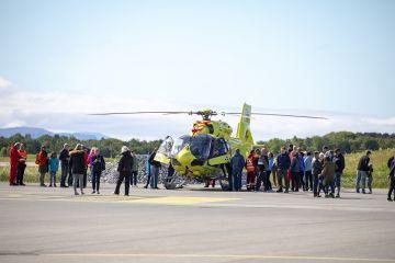Omvisning ambulase helikopter